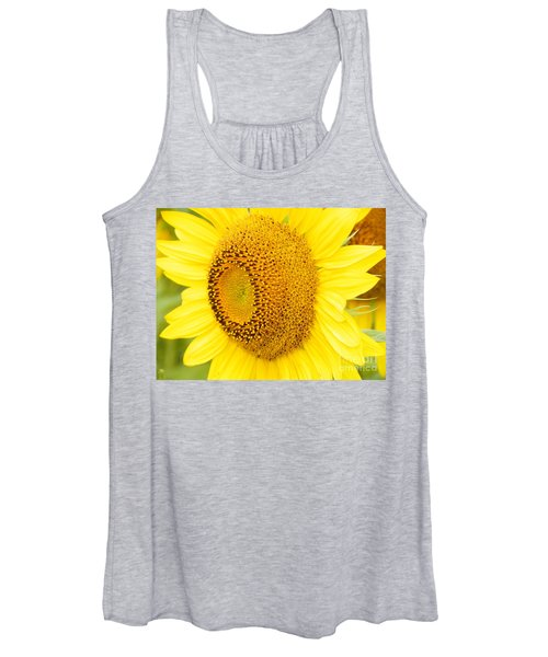 #933 D967 You Brighten My Day Colby Farm Sunflowers Women's Tank Top