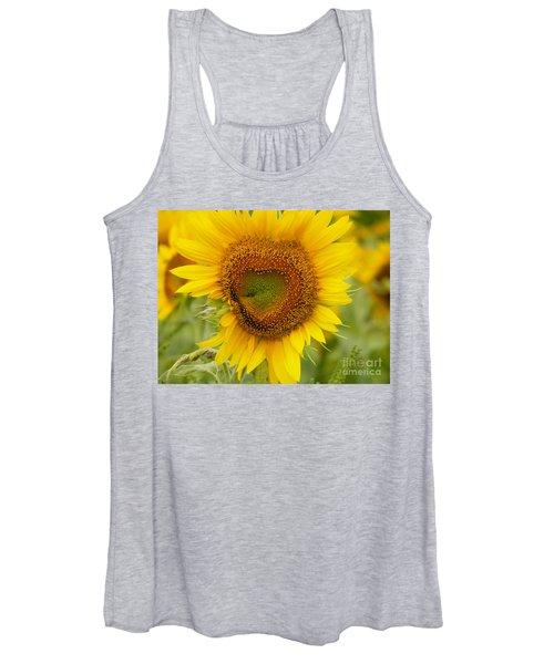 #933 D969 Colby Farm Sunflowers Women's Tank Top