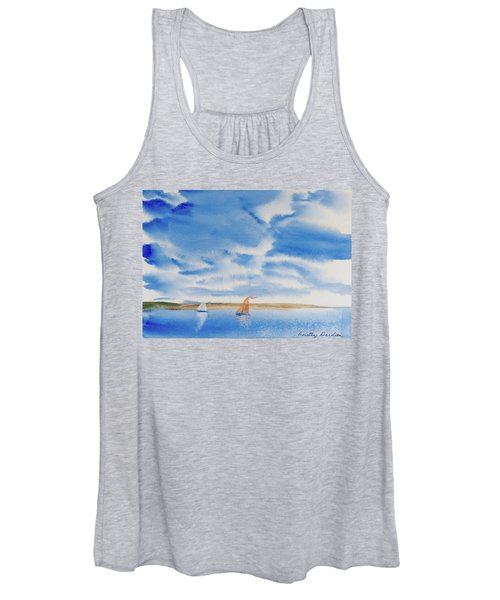 A Fine Sailing Breeze On The River Derwent Women's Tank Top