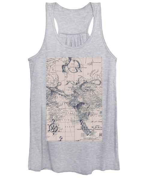 A Fishermans Map Women's Tank Top