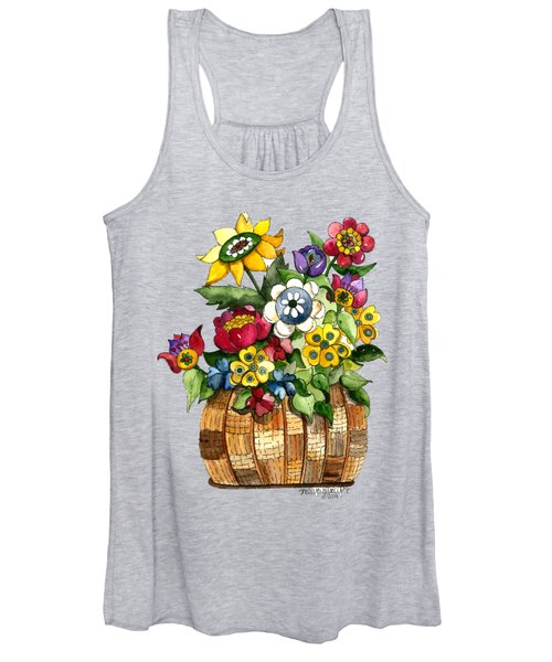 A Lovely Basket Of Flowers Women's Tank Top