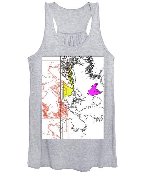 A Map Of Irises Women's Tank Top