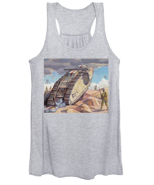 A Mark V Tank Going Into Action, Wwi Women's Tank Top
