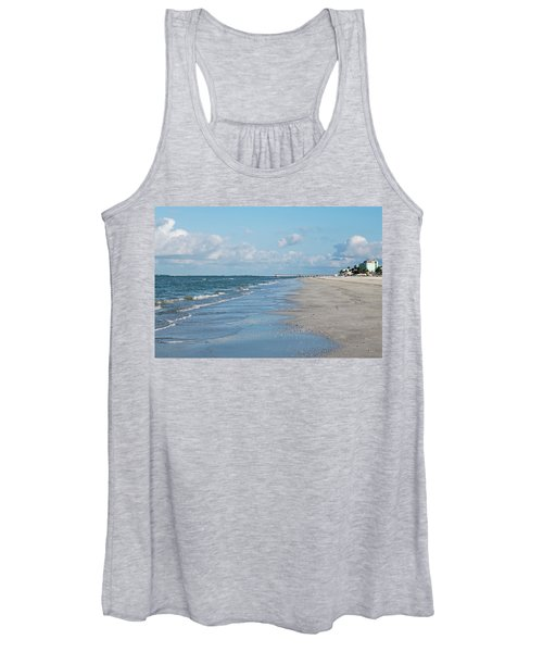 A Morning Walk On Fort Myers Beach Fort Myers Florida Women's Tank Top