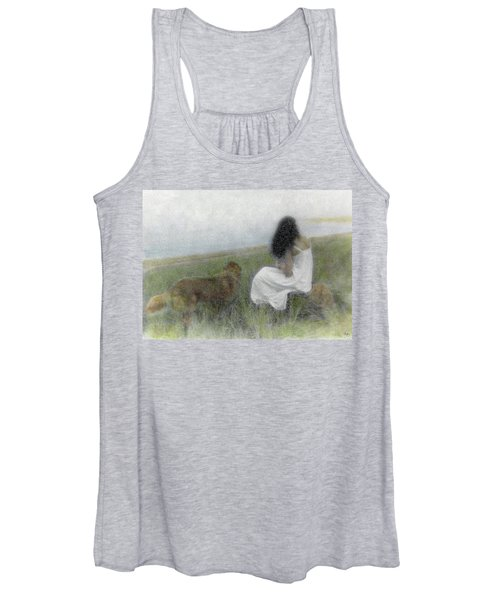 A Quiet Moment On The Vineyard Women's Tank Top
