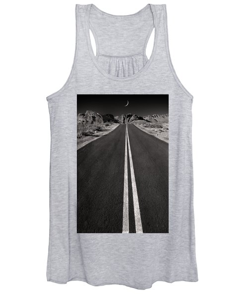 A Road With A Moon  Women's Tank Top