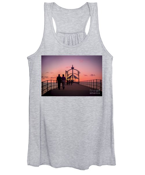 A Stroll Along Sunset Pier Women's Tank Top