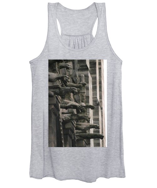 A Wall Of Gargoyles Notre Dame Cathedral Women's Tank Top