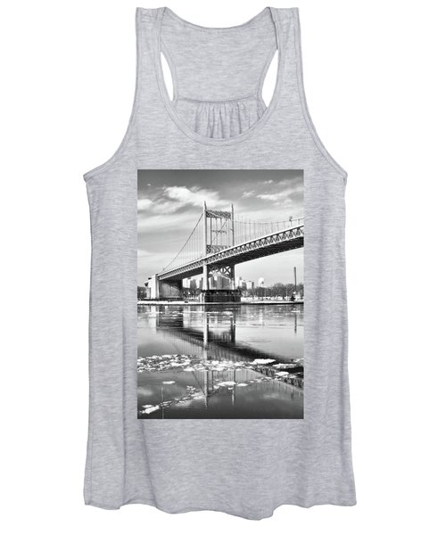 A Winter Portrait Of The Triboro Bridge Women's Tank Top