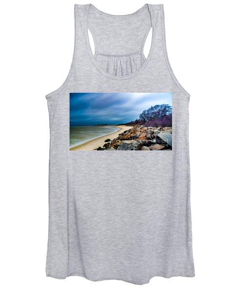 A Winter's Beach Women's Tank Top