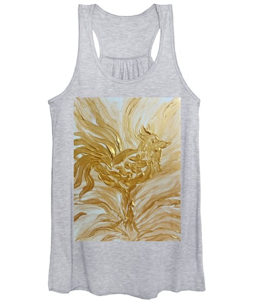 Abstract Golden Rooster Women's Tank Top