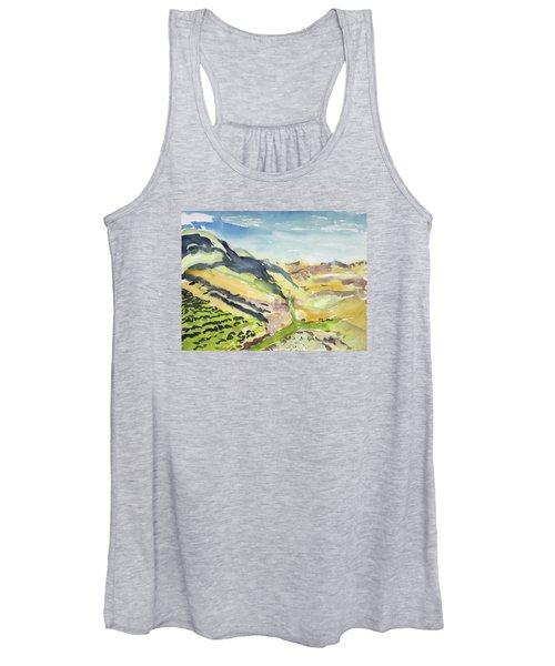 Abstract Hillside Women's Tank Top