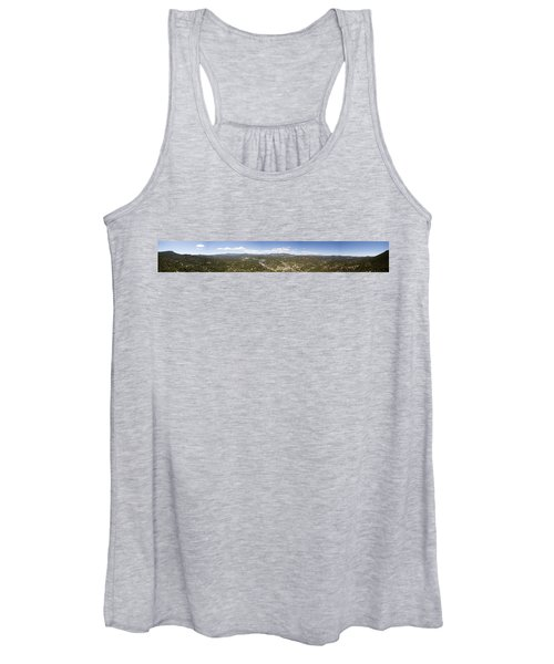 Aerial Pano Of Evergreen Women's Tank Top