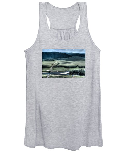 Aerial View Of Rolling Russian Hills Women's Tank Top