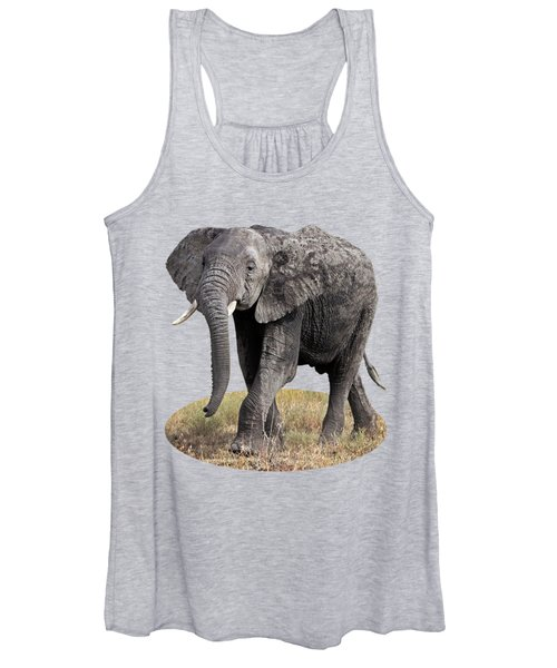 African Elephant Happy And Free Women's Tank Top