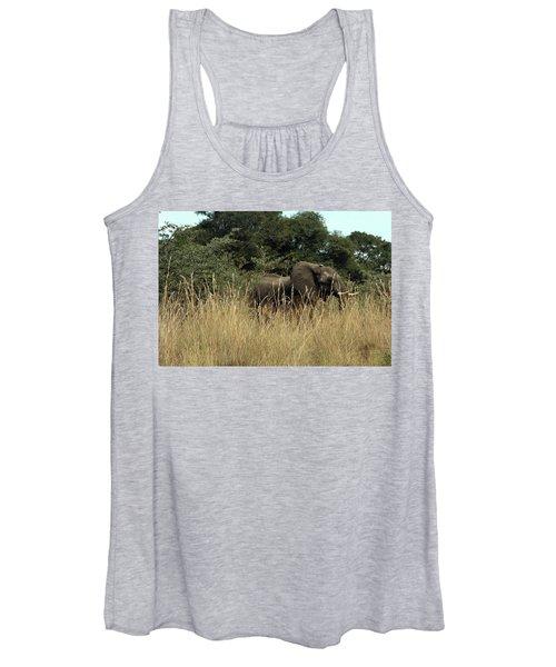 African Elephant In Tall Grass Women's Tank Top