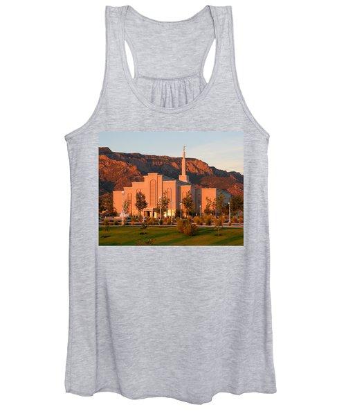 Albuquerque Lds Temple At Sunset 1 Women's Tank Top