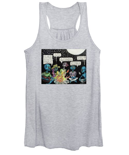 Aliens By The Campfire Women's Tank Top