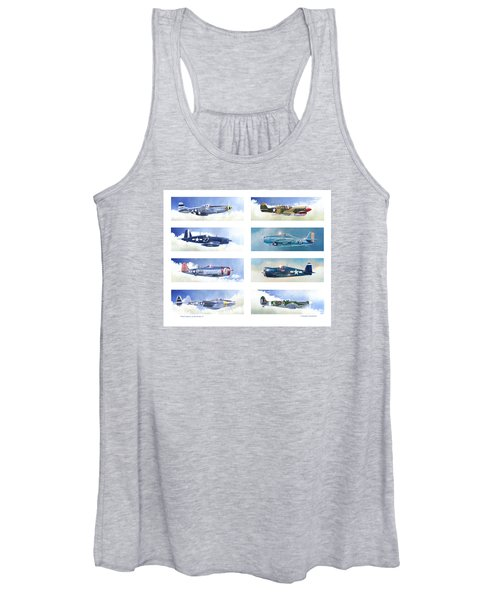 Allied Fighters Of The Second World War Women's Tank Top