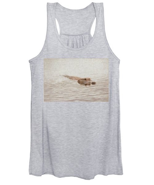 Alligator Waiting In The Water Women's Tank Top