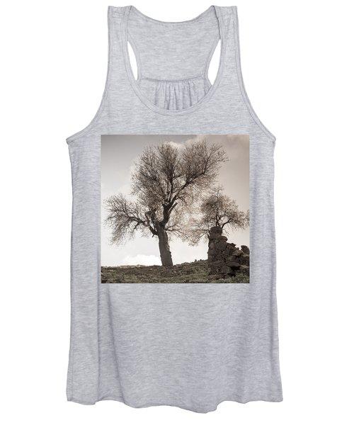Almond Trees In Abandoned Village Again Women's Tank Top