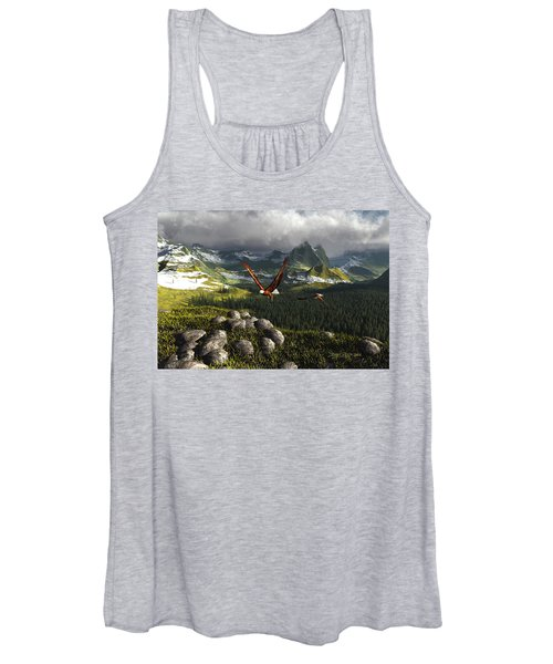 Along The Pinnacles Of Time Women's Tank Top