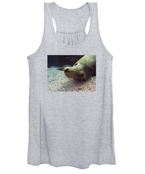 Am I Cute? Asks The Sea Lion Women's Tank Top