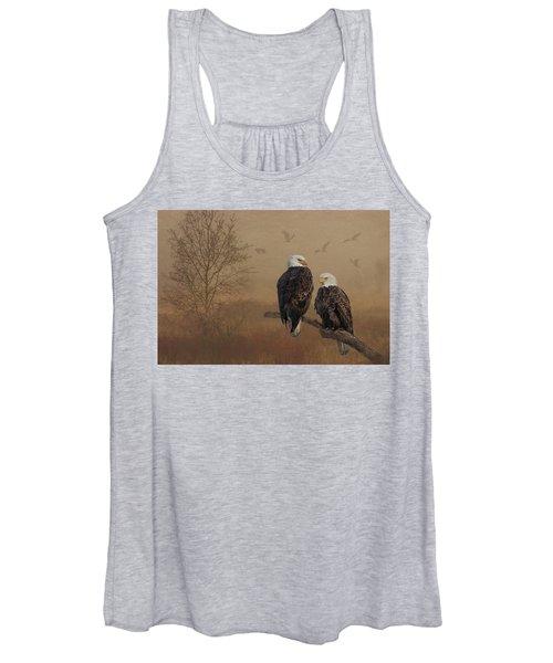 American Bald Eagle Family Women's Tank Top