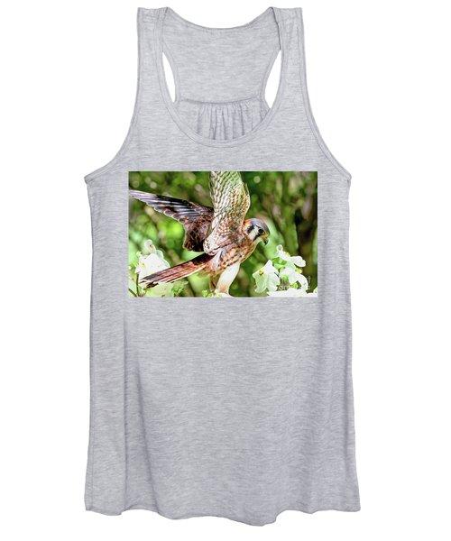 American Kestrel Hawk Women's Tank Top