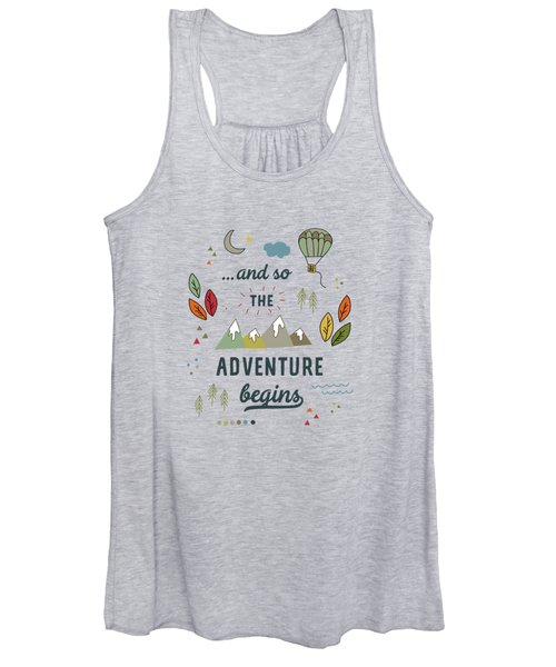 And So The Adventure Begins Women's Tank Top
