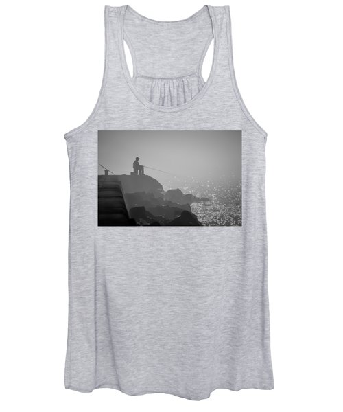 Angling In A Fog  Women's Tank Top