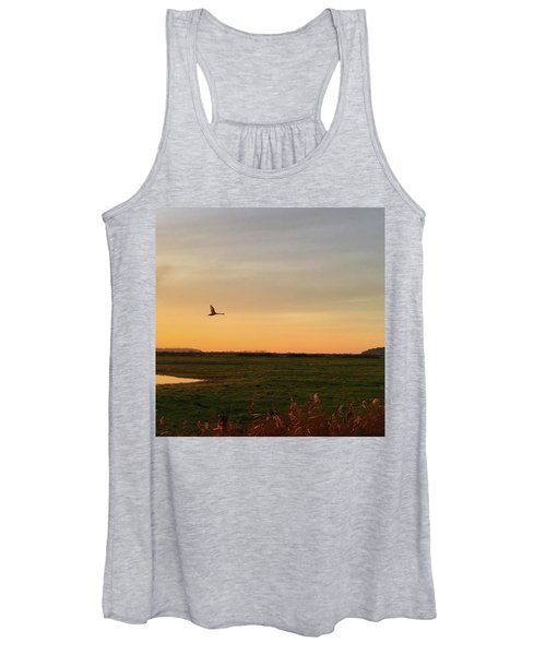 Another Iphone Shot Of The Swan Flying Women's Tank Top