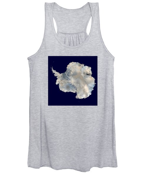 Antarctica From Blue Marble Women's Tank Top