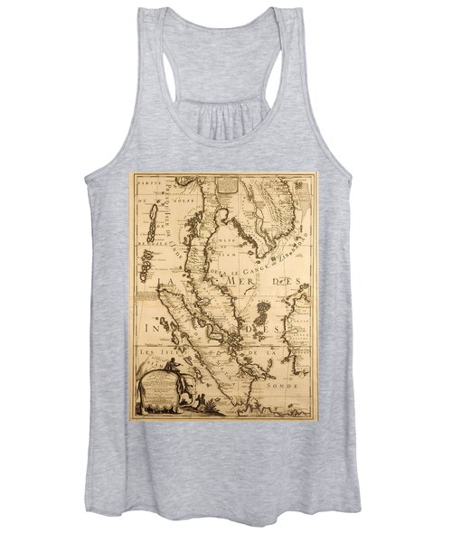 Antique Map Of South East Asia Women's Tank Top