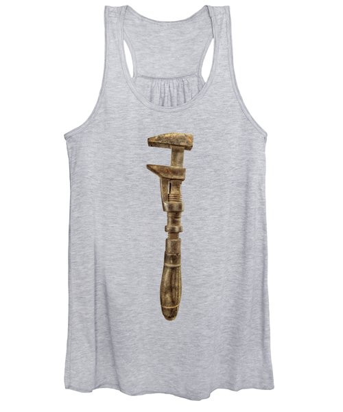 Antique Wrench L Face Wood Wire  Women's Tank Top