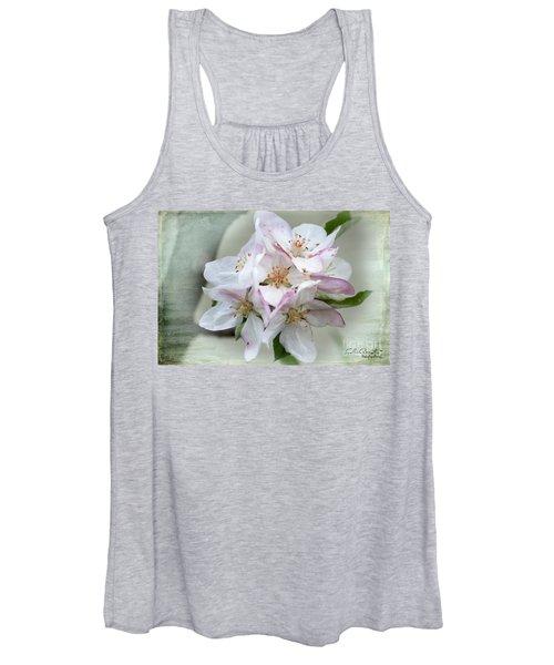Apple Blossoms From My Hepburn Garden Women's Tank Top
