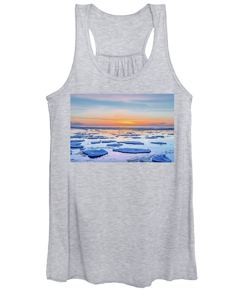 April Sunset Over Lake Superior Women's Tank Top