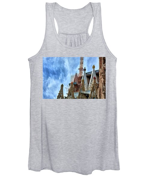 Architectural Details Of The Sagrada Familia Women's Tank Top