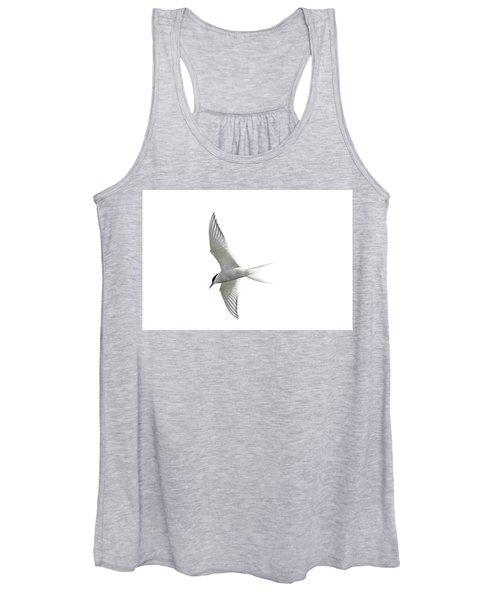 Arctic Tern Flying In Mist Women's Tank Top