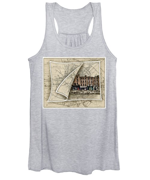 Arran Quay Dublin Map Women's Tank Top