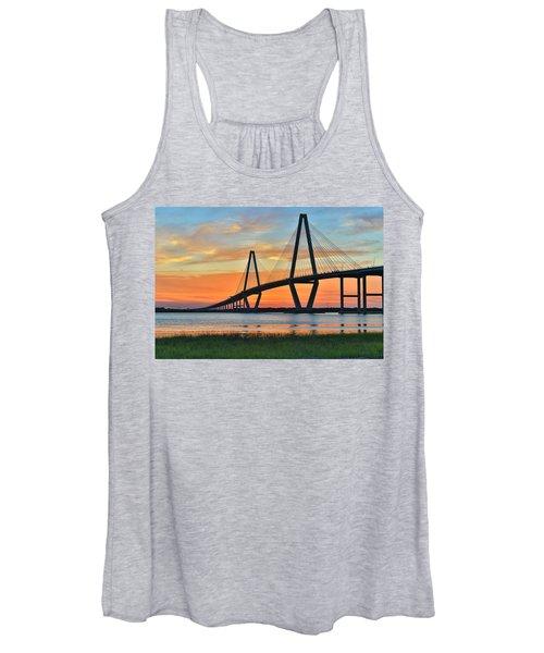 Arthur Ravenel Jr. Bridge At Dusk - Charleston Sc Women's Tank Top