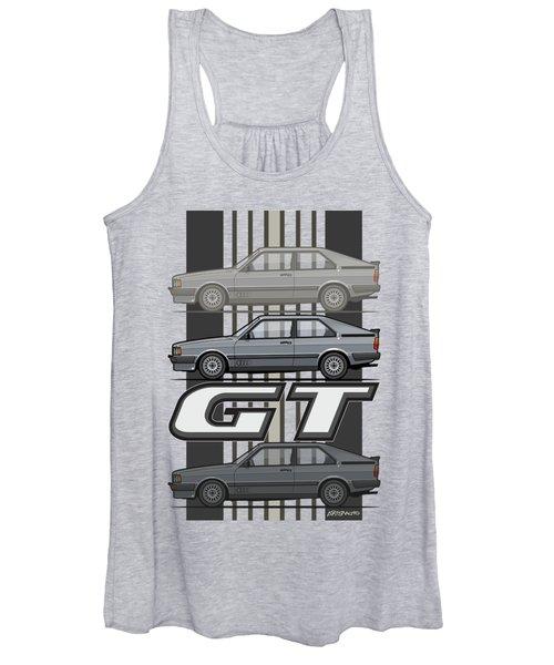 Four Rings Coupe Gt B2 Stone Grey Metallic Women's Tank Top