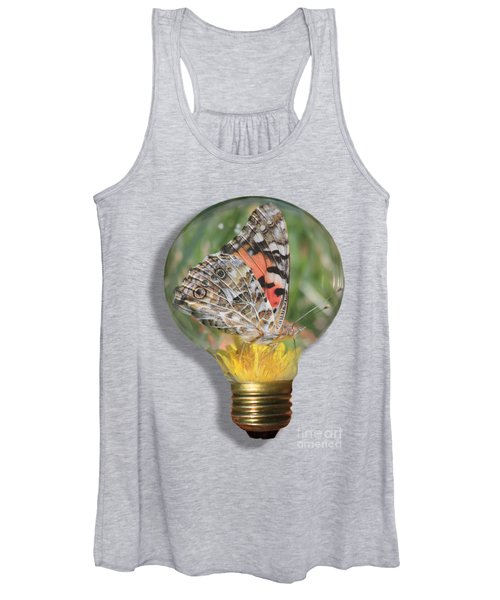 Women's Tank Top featuring the photograph Butterfly In Lightbulb by Shane Bechler
