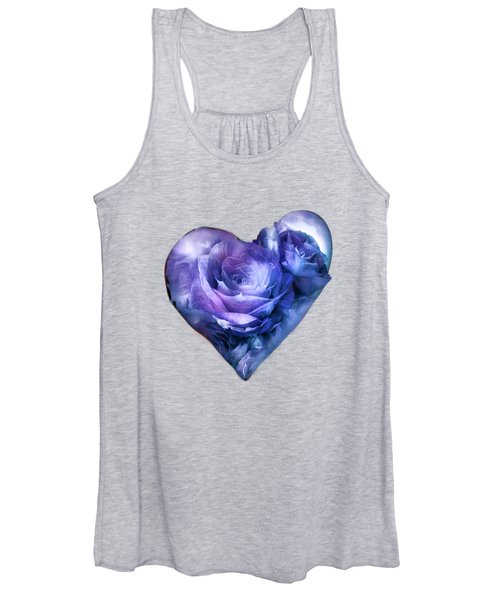 Heart Of A Rose - Lavender Blue Women's Tank Top