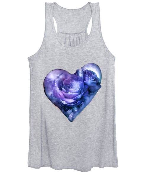 Heart Of A Rose - Lavender Blue Women's Tank Top