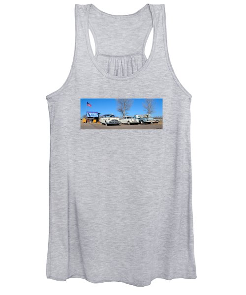 Ash Fork Vintage Cars Along Historic Route 66 Women's Tank Top