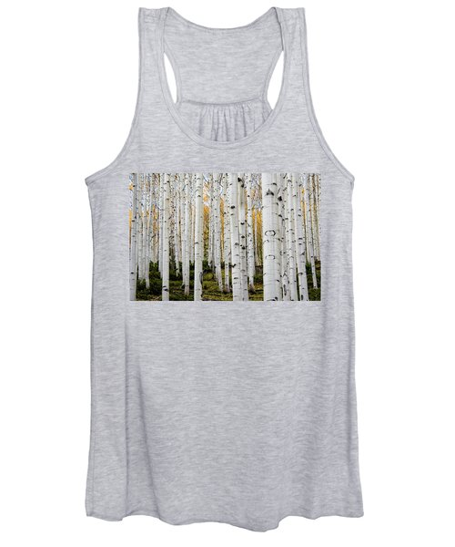 Aspens And Gold Women's Tank Top