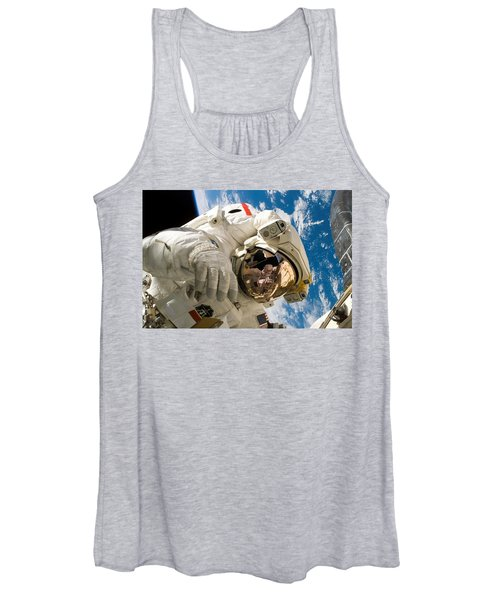 Astronaut During The Third Spacewalk Of Sts-121 Women's Tank Top