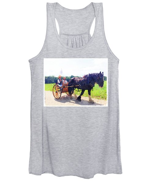 Horse And Buggy At Mount Vernon Women's Tank Top
