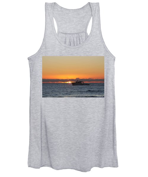 Atlantic Ocean Fishing At Sunrise Women's Tank Top